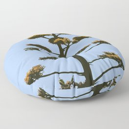 Agave Blossom Abstract Floor Pillow
