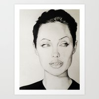 angelina jolie Art Prints featuring Angelina Jolie by alittleart