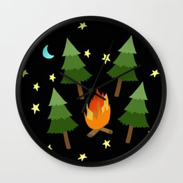 campsite Wall Clock