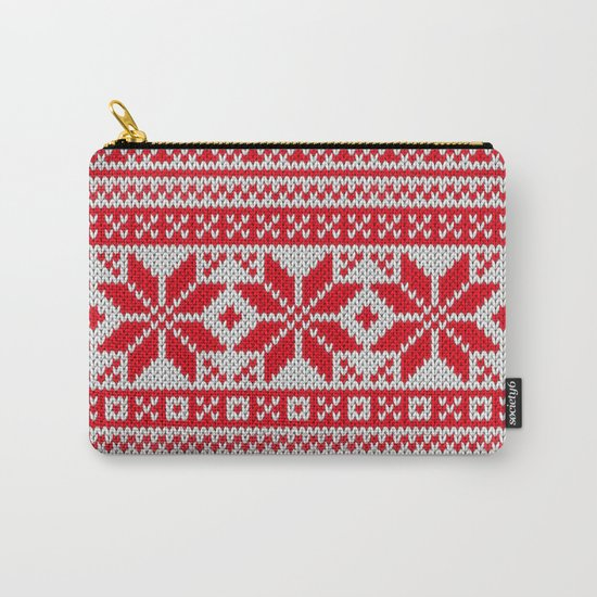 Winter knitted pattern 6 Carry-All Pouch