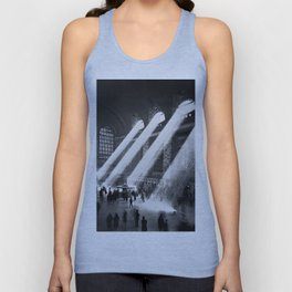 1935 Vintage New York City Grand Central Terminal Photographic Print Unisex Tank Top