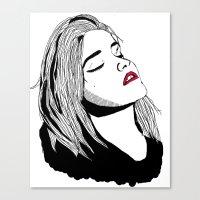 sky ferreira Canvas Prints featuring Sky Ferreira by BUGS