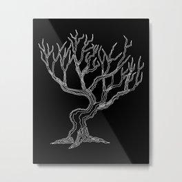 Tree 03 Inverse, One Liner Metal Print