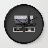 8 bit Wall Clocks featuring NES 8-Bit Console by Michael B. Myers Jr.