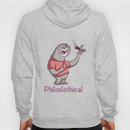 Feelin PhiloSlothical Sloth Clothing Graphic Gift Hoody