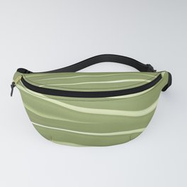 Olive Green Abstract Stripes Fanny Pack