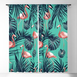 Tropical Flamingo Pattern #7 #tropical #decor #art #society6 Blackout Curtain
