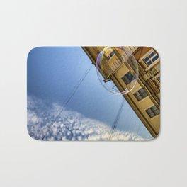 Soap bubble in the sky Bath Mat