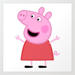 Peppa Pig Happy Art Print