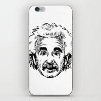 einstein iPhone & iPod Skins featuring EINSTEIN by James Vickery