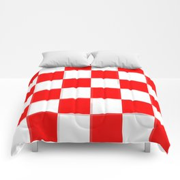 Red & White Checkerboard Comforters