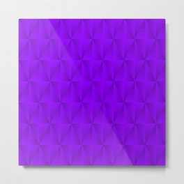 Graphic stylish pattern with iridescent triangles and violet squares in zigzag rhombuses. Metal Print