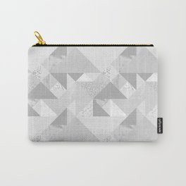 Modern abstract glacier gray white geometrical pattern Carry-All Pouch