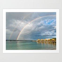 Aruba Rainbow Art Print