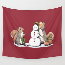 Holiday Trimmings (festive red) Wall Tapestry