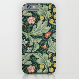 William Morris Leicester Herbaceous Italian Laurel Acanthus Textile Colorful Floral Pattern iPhone Case