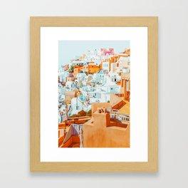 Santorini Vacay #photography #greece #travel Framed Art Print