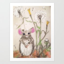 Squeak The Mouse Art Print