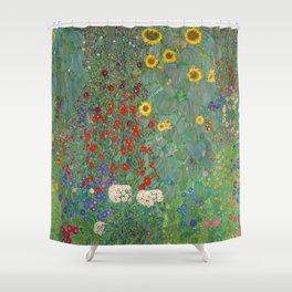Klimt The Sunflower Garden Shower Curtain
