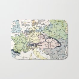 Europe in 1740 - Vintage Map Collection Bath Mat