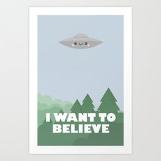 I want to believe jr. Art Print