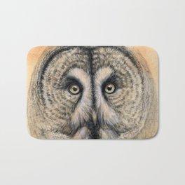 Great Grey Owl g041 Bath Mat
