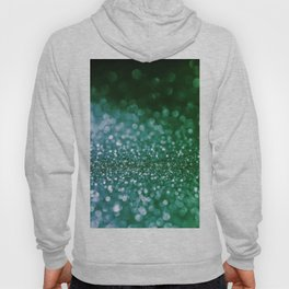 Aqua Glitter effect- Sparkling print in green and blue Hoody