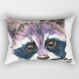 Blooming Raccoon Rectangular Pillow