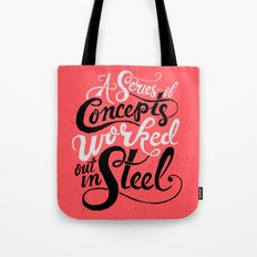 A Series of Concepts Worked Out in Steel Tote Bag