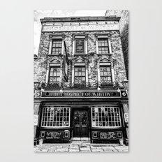Prospect of Whitby Pub London 1520 Canvas Print