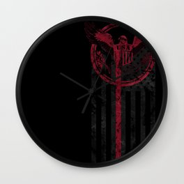 Thin Red Line Wall Clock