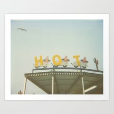 Hot - Seaside Heights Boardwalk Polaroid Print Art Print