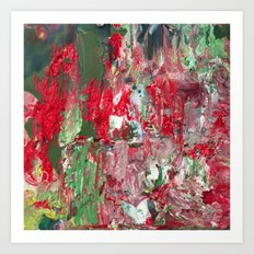 Color Commentary #17: Red & Green [Lena Levin, In Studio With Masters] Art Print