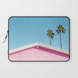 Pink House Roofline with Palm Trees (Palm Springs) Laptop Sleeve