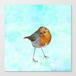 Robin -The visitor Canvas Print