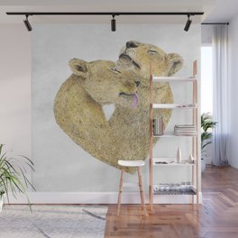Lioness Lovers Wall Mural