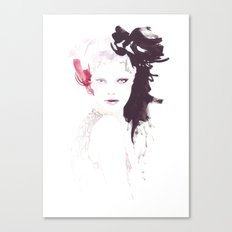 Fashion illustration in watercolors Canvas Print
