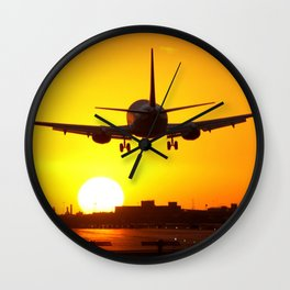 Beautiful 737 Sunset Wall Clock