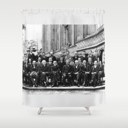 World-Renowned Physicists of 1927 at Solvay Conference Shower Curtain