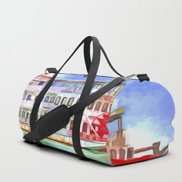 New Orleans Paddle Steamer Pop Art Duffle Bag