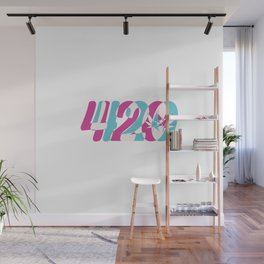 420 | Smoke Weed Cannabis Pot Gift Ideas Wall Mural