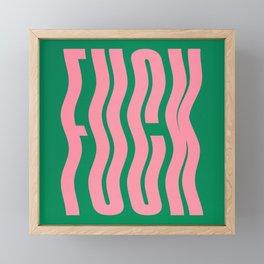 Favorite Word: Tropical Wavy Edition Framed Mini Art Print