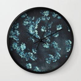 Forget-Me-Nots Pattern Wall Clock