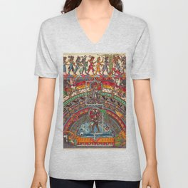 The Descent of Quetzalcoatl 1 Unisex V-Neck
