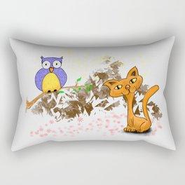 gufo e gatto 1 Rectangular Pillow