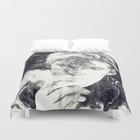 smoke Duvet Covers featuring Smoke by Anna Tromop Illustration