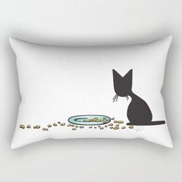 Anytime Dinnertime   (The Naughty Kitten) Rectangular Pillow