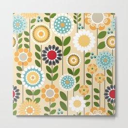 Take a Break, Folksy Floral Metal Print