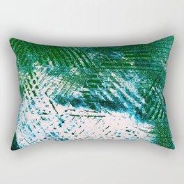 Hummingbird Abstract Painting Rectangular Pillow