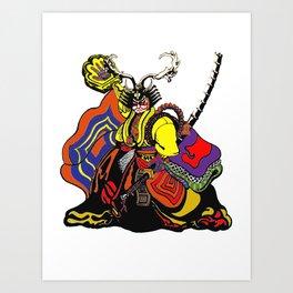 shogun chop Art Print